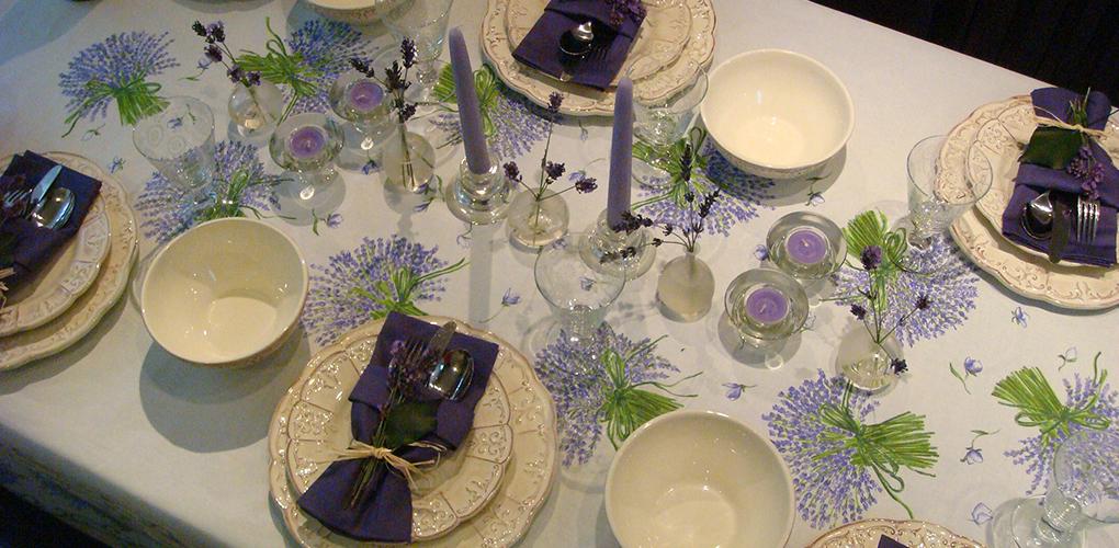 南仏のテーブルセッティング