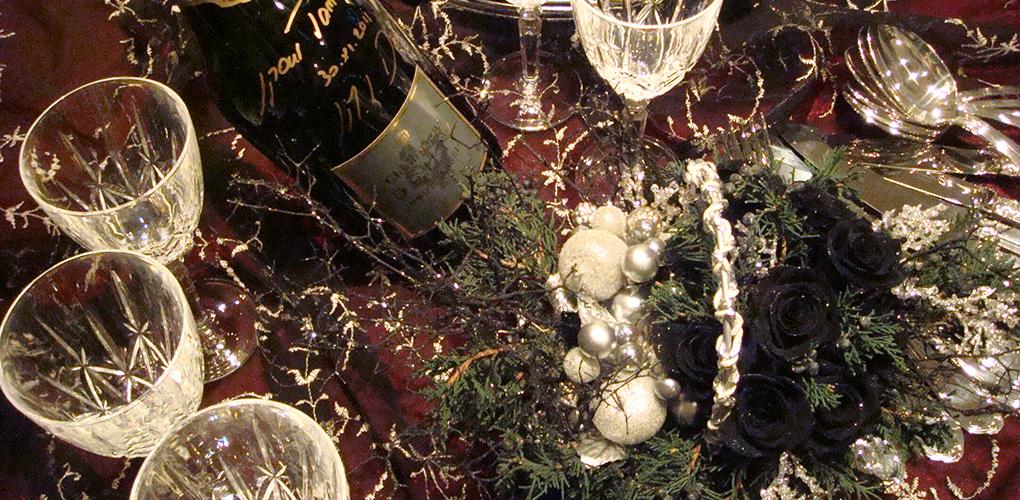 古城で過ごすクリスマスディナー