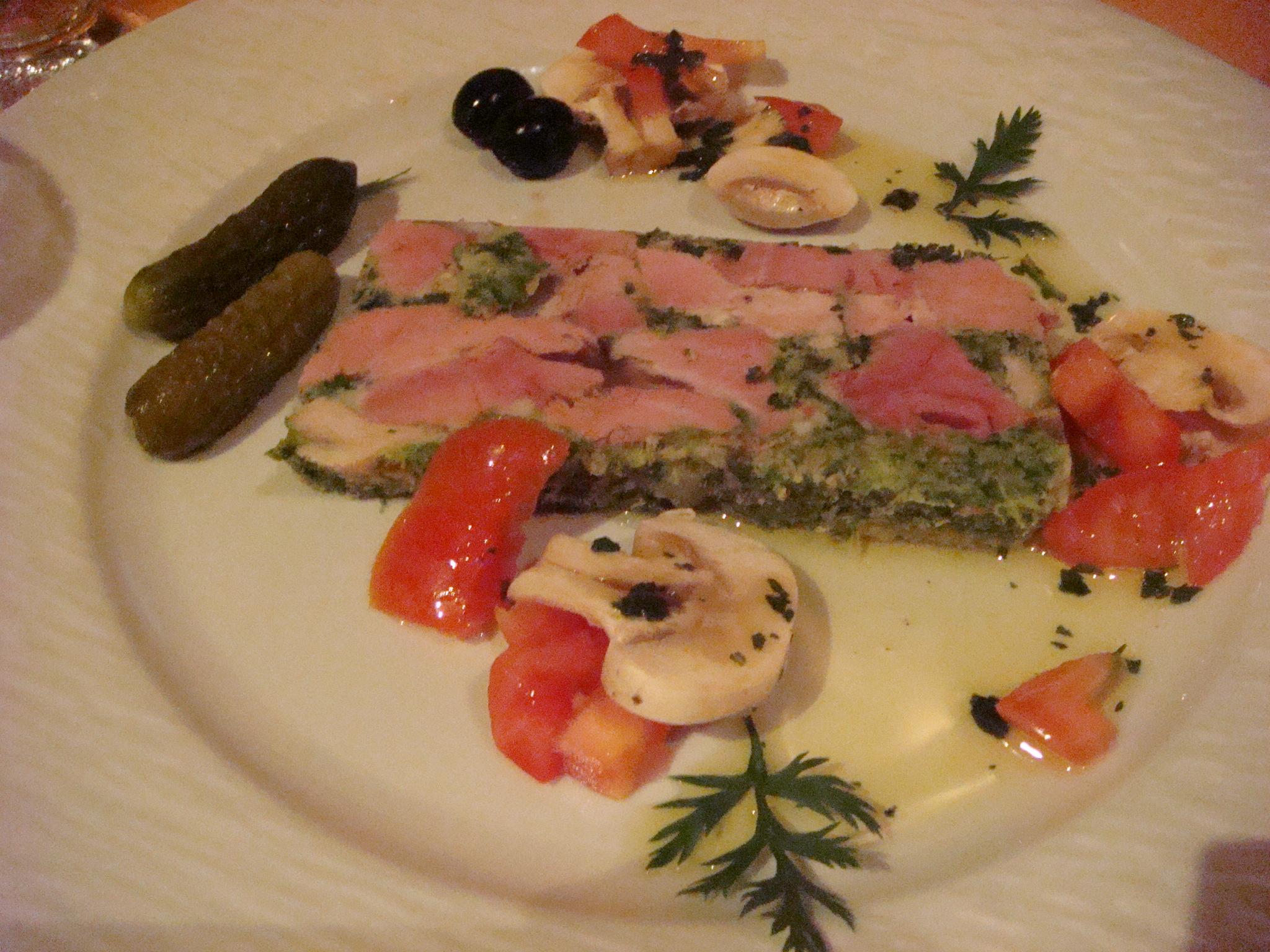 ブルゴーニュのレストランのメニュー